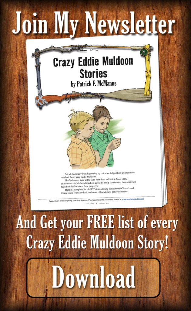 Image offering free download of list of every Crazy Eddie Muldoon story